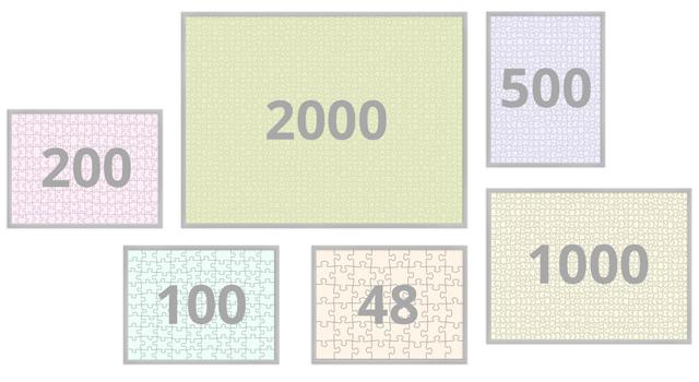 Puzzelkader 48-200 stukjes
