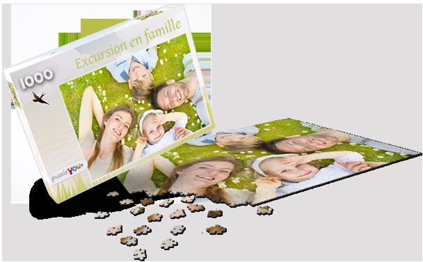 Boîte pour puzzle printemps