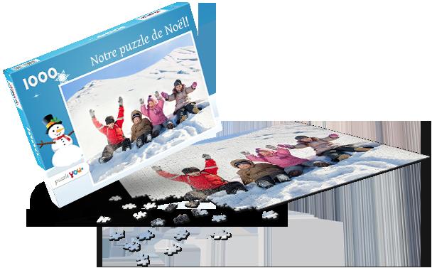 Boîte pour puzzle Noël I