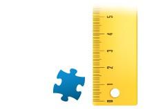 Echelle de comparaison pièce du puzzle - Puzzle photo 1000 pièces