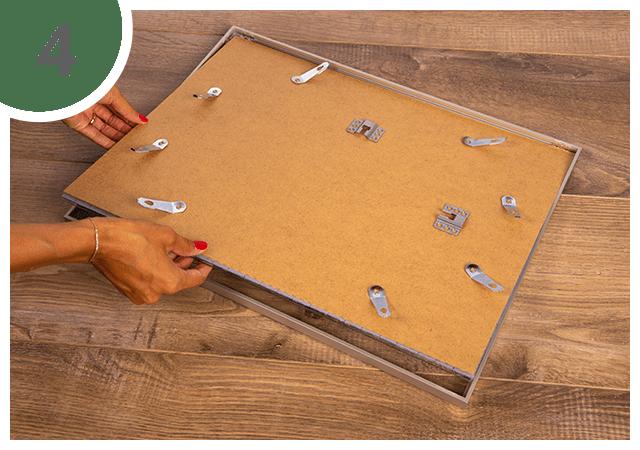 Instructies voor puzzelkader 48 tot 2000 stukjes Stap 4