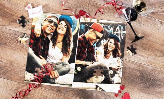 Fotopuzzel Collage als liefdesverklaring