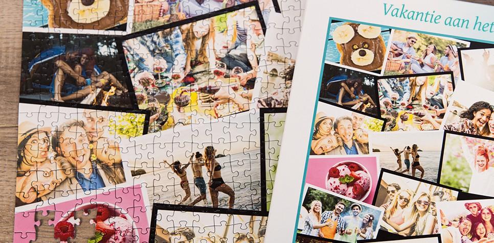 Fotopuzzel met een overlappende collage