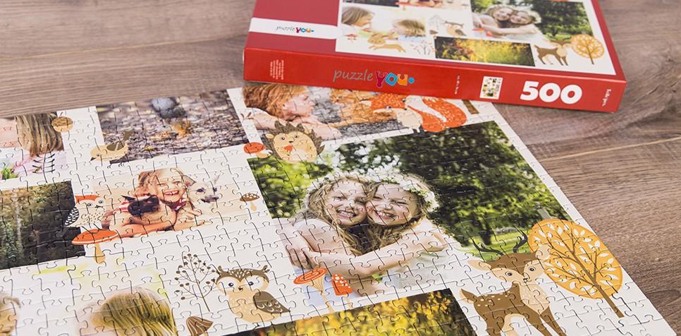 Fotopuzzel met een collage met afbeeldingen