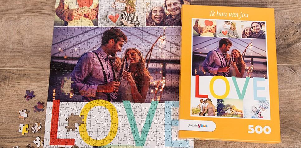 Fotopuzzel met een thema's collage