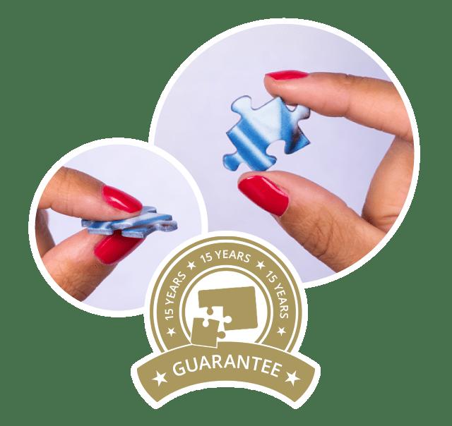Promesse de qualité : Puzzles photos avec une garantie de 15 ans