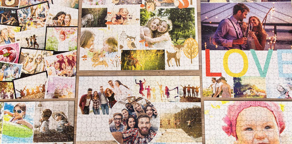 Layout overzicht photopuzzle-collage
