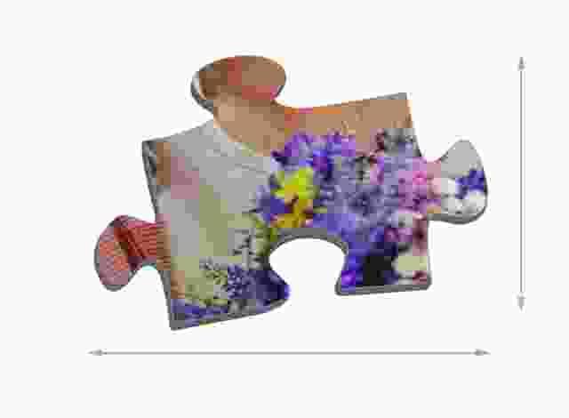 Fotopuzzel met 500 stukjes Maat van de puzzelstukjes