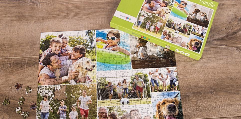 Puzzle Photo pêle-mêle avec Grille simple