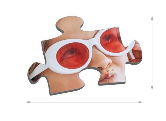 Maat van de puzzelstukjes
