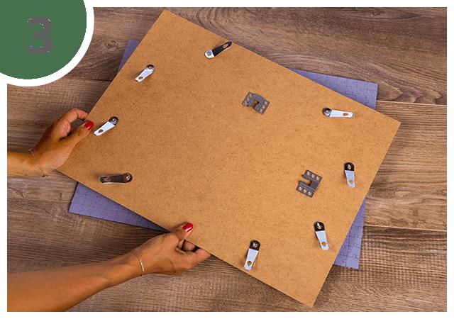 Instructies voor puzzelkader 48 tot 2000 stukjes Stap 3