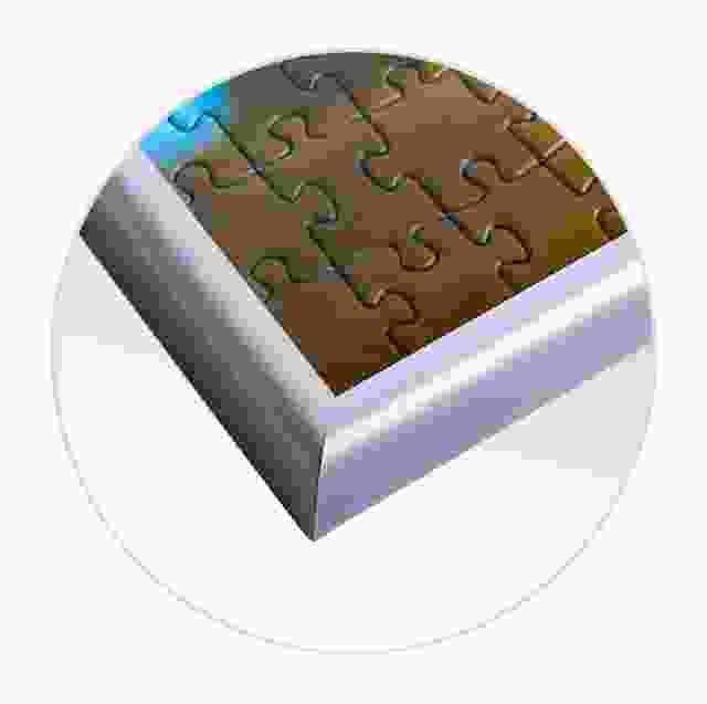 Puzzelkader voor de gedetailleerde weergave van de fotopuzzel