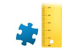 Echelle de comparaison pièce du puzzle - Puzzle photo 200 pièces