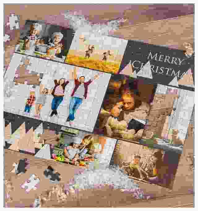 persoonlijk kerstcadeau: foto puzzel collage