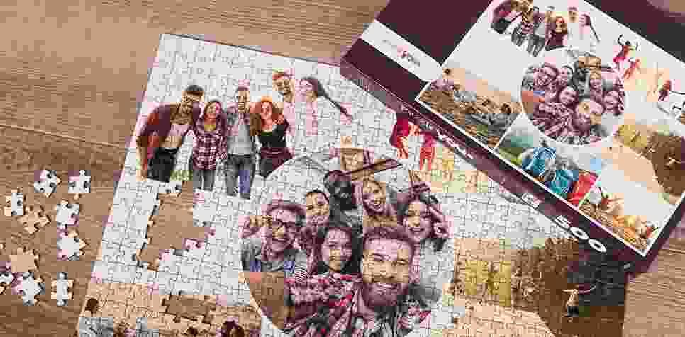 Fotopuzzel met een artistieke collage
