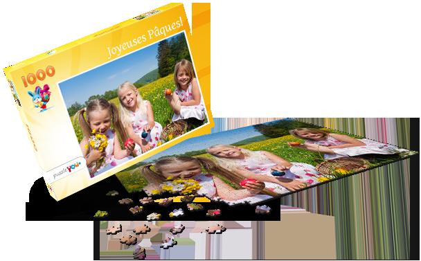 Boîte pour puzzle Pâques