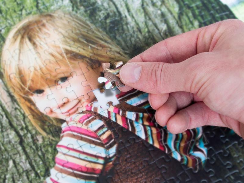 Technique de découpe pour le puzzle photo