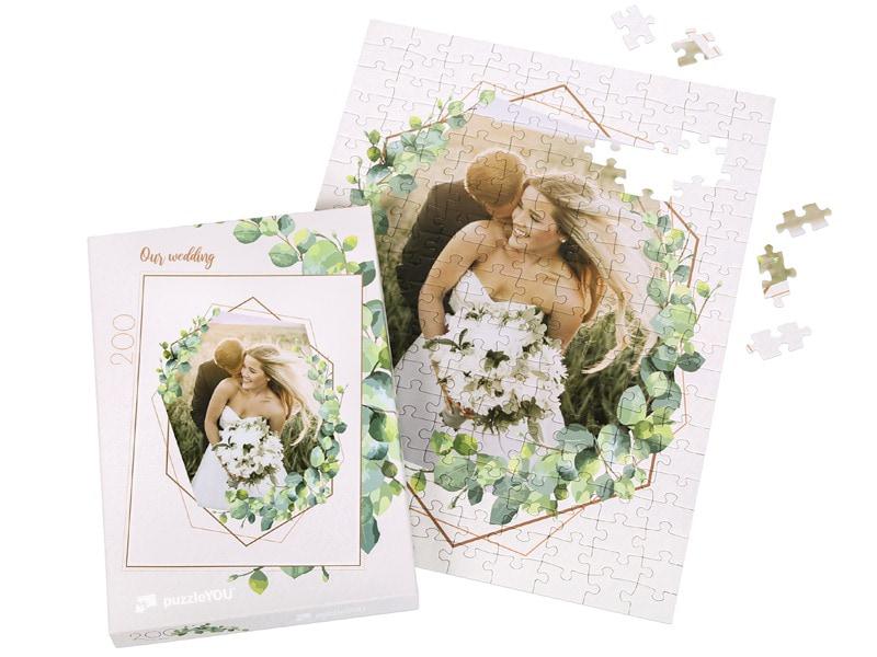 Puzzeldoos voor uw fotopuzzel 200 stukjes bruiloft