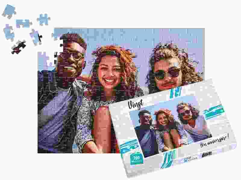 boîte adaptée à puzzle photo