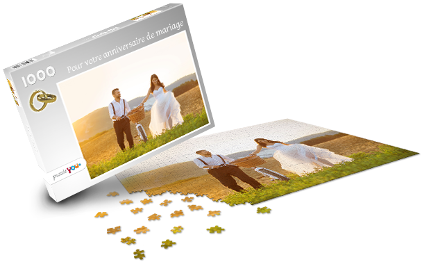 Boîte pour puzzle mariage