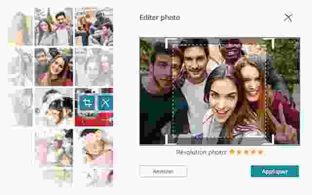 modifier le cadrage de la photo