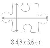 Maat puzzelstukje - fotopuzzel 100 stukjes