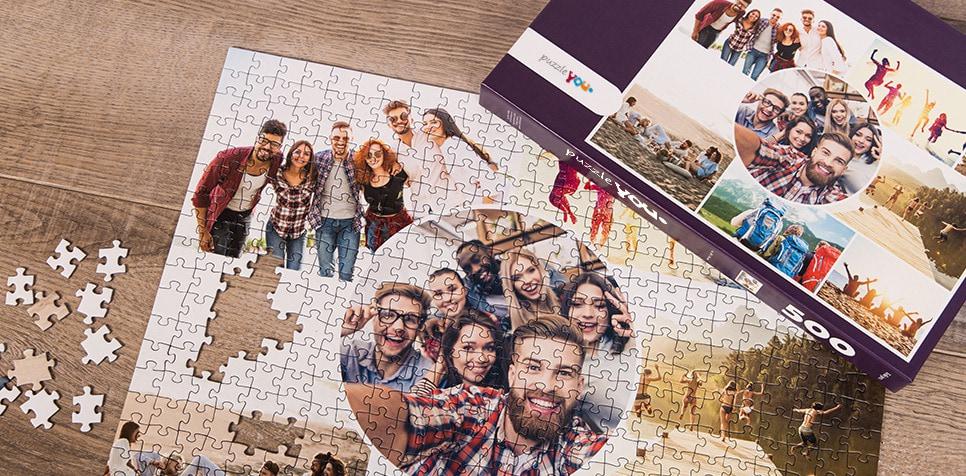 Puzzle Photo pêle-mêle avec Grille artistique