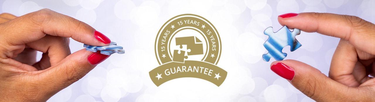15 jaar garantie op fotopuzzels en spellen