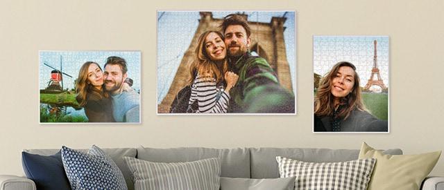 Kader je fotopuzzel in met onze puzzelkaders